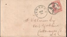 New York, Cover to West Yorkshire, NY.  Very Fine Fancy Cancel, DCDS