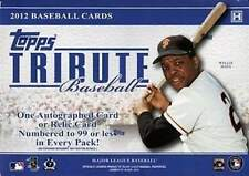 2012 Topps Tribute Baseball Factory Sealed Hobby Box - 6 High End Hits Per Box