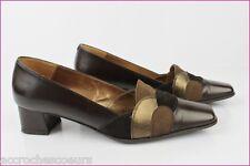 Zapatos de calle BRENDA ZARO Cuero y Ante Marrón Bronce T 38,5 MUY BUEN ESTADO