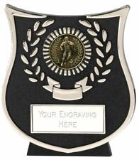 Emblems-Gifts Curve Silver Female Footballer Plaque Trophy With Free Engraving