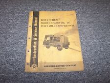 Gardener Denver SP600DB Portable Compressor Workshop Shop Service Repair Manual