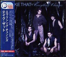 Take That - Everything Changes - Japan CD+1BONUS - 14Tracks OBI