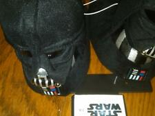 NWT TODDLER BOYS BLACK STAR WARS HEADED SLIPPERS SIZE 7/8