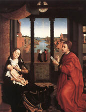 Oil painting Rogier van der Weyden - St Luke Drawing a Portrait of the Madonna