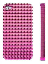 Ultra ligero Duro Funda Piel Para Apple Iphone 4 4g 4s Color de rosa caliente Diamante Bling