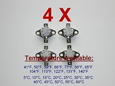 4X (4X) Thermostat Temperature Thermal Switch Normaly Open N.O. KIT Your Choice