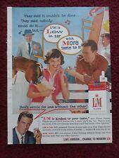 1959 Print Ad L&M Cigarettes ~ James Arness Gunsmoke TV Show