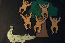 Felt/ Flannel Board Story - 5 LITTLE MONKEYS SWINGING TREE-preschool circle time