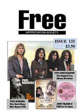 FREE APPREC SOCIETY #132 April 2014 Paul Kossoff Rodgers Simon Kirke Andy Fraser