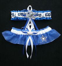 Dallas Cowboys Fabric  Wedding Garter Set Prom  Football Charm Royal  Blue