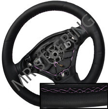 FOR TOYOTA VERSO 2009+ BLACK ITALIAN LEATHER STEERING WHEEL COVER PINK STITCHING