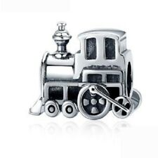 NEW Train Carriage Steam Engine Silver Rail Travel European Charm Bracelet Bead