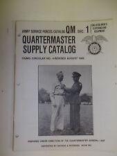 bk1 WW 2 US Army Quartermaster Supply Catalog QM1 R211