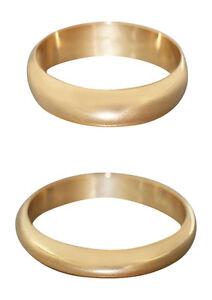 Ehering Gold 750 massiv schmal oder breit Goldring Trauring schlichter Ring 18 K
