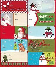 Christmas Peel N Stick 10 Small Gift Tags