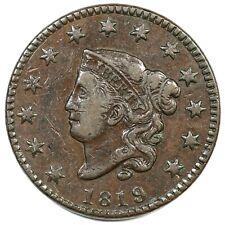 1819 N-5 R-3 Matron or Coronet Head Large Cent Coin 1c