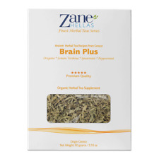 ZANE HELLAS Finest Herbal Teas. Brain Plus. Ideal for Brain Fog, Focus, Studying