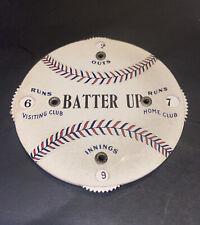 """1920's BASEBALL """"BATTER UP"""" RED/BLUE SEAMED BALL MECHANICAL UMPIRES SCORER SHARP"""
