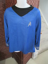 Star Trek Uniform Shirt Costume Blue Adult Large Rubie's