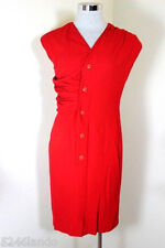 Vintage Gianni Versace Couture Red Sexy Dress Small 2 3 4