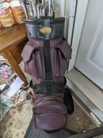Vintage Pro Classic Golf Bag Maroon/Purple NO CLUBS