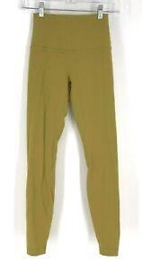 LULULEMON - WOMEN'S SIZE 4 - YELLOW MUSTARD GOLD YOGA FITNESS PANTS