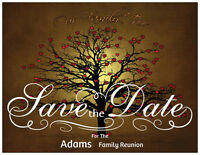 CUSTOM FAMILY Tree REUNION Save the Date Postcard  Flat PERSONALIZED