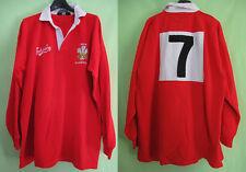 Maillot Rugby welsh Carlsberg jersey Porté #7 pays de Galles Vintage Match - XXL