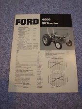 Ford 4000 SU Tractor Brochure Original '73 Vintage MINT