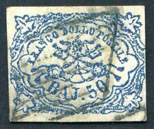 Italia STATO chiese 10ii 1852 PUNZONATO FIRMATO più volte € 3200 (s3313