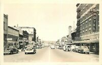 Autos Street Scene Chehalis Washington 1940s RPPC Photo Postcard 6696
