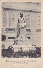 CARTOLINA MEDE MONUMENTO  SCULTORE FELICE BIALETTI SCUOLE PAVIA LOMELLINA 1919