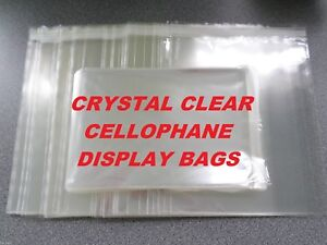 C5 - 167mm x 230mm CELLOPHANE DISPLAY BAGS - Clear Self Seal Cello Bags