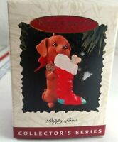 Hallmark Dachshund Puppy Love Keepsake Christmas Tree Ornament 1996 Vintage Dog