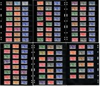 OMNIBUS 1937 KGVI CORONATION COMMON DESIGN SET- 135 STAMPS (45 COLONIES) - MNH