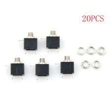 20pcs 2.5mm Female Connector 3 Pin Headphone Jack Socket Mono Channel PJ-201M TS