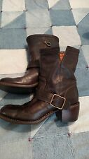 Fiorentini  & Baker Dark Brown Leather Boots size 40 made in Italy 9 9.5