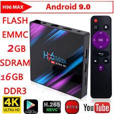 H96 Max RK3318 2GB+16G Android 9.0 Quad Core 4K Set Top Box Media Player TV UO