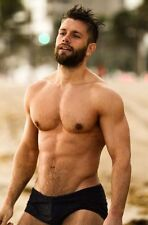 Speedo Men's Xtra Life Lycra Solar 1 Inch Brief Swimsuit Black 34
