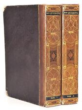 Miguel Cervantes : DON QUICHOTTE, vignettes de Tonny Johannot. 2 volumes,reliure