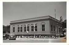 Carroll Iowa~U.S Post Office~Real Photo Postcard 1947