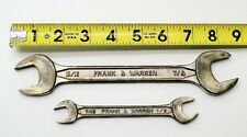 FRANK & WARREN OPEN END WRENCH SET 13/16 X 7/8 & 7/16 X 1/2 AIRCRAFT TOOLS