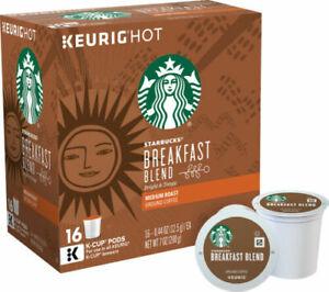 Starbucks Breakfast Blend Coffee Keurig K Cups 32, 64, 96 Pick Quantity Size