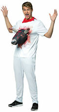 Bull 3D Attacks Tee Adult Costume White Shirt With Red Neck Kerchief Halloween