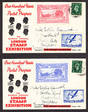 1937 KGVI LONDON STAMP EXHIBITION OCTOBER SET OF 4 COVERS. NICE LOT
