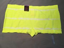 Seamless Boy Short Panty Neon Yellow Tie Dye Large NWT Free Shipping
