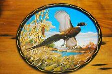 James L Artig Metal Serving Tray – Pheasant – Round
