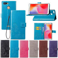 For Xiaomi Redmi 6A Note 6 Pro Flip Card Wallet Magnet Leather Stand Case Cover