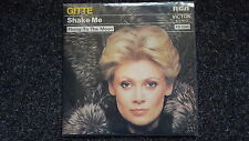 Gitte - Shake me/ Flying to the moon 7'' Single SUNG IN ENGLISH PORTUGAL