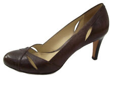 Ann Taylor Womens Heels Brown Wear to Work Career Shoes with Cutouts Size 7.5M